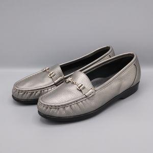 SAS Metro Pewter Horse Bit Women's Comfort Shoes
